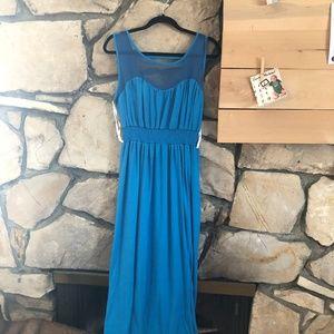 Wrapper Blue Midi-Dress